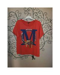 Top, tee-shirt viscose rouge Maje en coloris Red