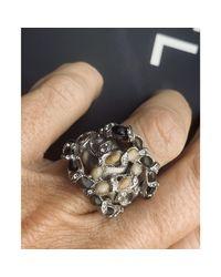 Bague argent doré Chanel en coloris Metallic