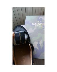 Baskets cuir noir Valentino en coloris Black