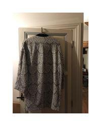 Manteau coton gris Maje en coloris Gray