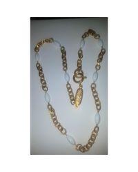 Sautoir métal doré Chanel en coloris Metallic