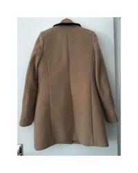 Manteau laine beige Claudie Pierlot en coloris Natural
