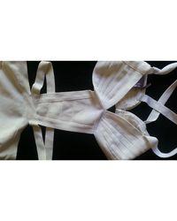 Maillot de bain une-pièce rayon blanc Hervé Léger en coloris White