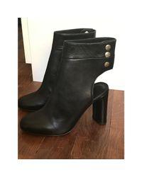 Bottines & low boots à talons cuir noir IRO en coloris Black