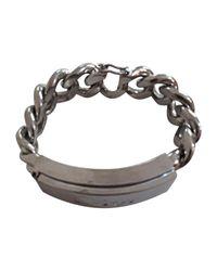 Bracelet métal argent Dior en coloris Metallic