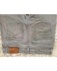 Jeans droit coton gris Maje en coloris Gray
