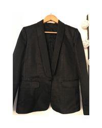 Veste coton noir Sandro en coloris Black