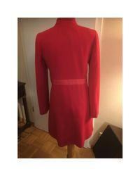 Manteau laine rouge Marc Jacobs en coloris Red