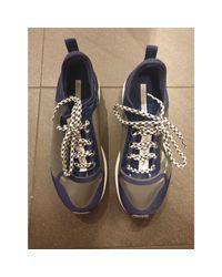 Baskets nylon bleu Stella McCartney en coloris Blue
