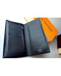 Portefeuille cuir noir Louis Vuitton pour homme en coloris Black