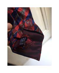 Cravate soie rouge Lanvin pour homme en coloris Red