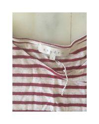 Top, tee-shirt coton blanc Sandro en coloris White