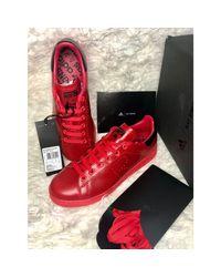 Baskets cuir rouge Adidas pour homme en coloris Red