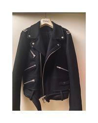 Manteau laine noir The Kooples en coloris Black