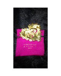 Broche . doré Christian Lacroix en coloris Metallic