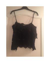 Top, tee-shirt viscose noir The Kooples en coloris Black