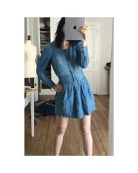 Robe courte denim, jean bleu Étoile Isabel Marant en coloris Blue