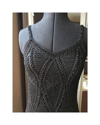 Robe mi-longue dentelle noir Karen Millen en coloris Black
