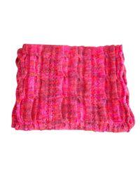 Châle laine mélangée rose Missoni en coloris Pink