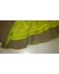 Jupe courte laine multicolore Etro en coloris Green