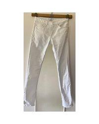Jeans droit coton blanc Sandro pour homme en coloris White