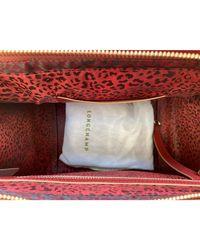 Sac à main en cuir cuir rouge Longchamp en coloris Red