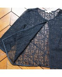 Gilet, cardigan polyamide noir Sandro en coloris Black