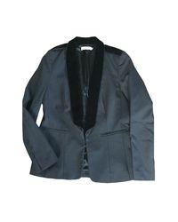 Veste laine noir Sandro en coloris Black