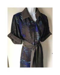 Robe longue soie multicolore Max Mara