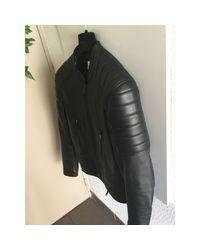 Veste en cuir cuir noir Sandro pour homme en coloris Black