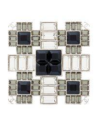 Broche métal argent Chanel en coloris Metallic