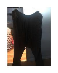 Sarouel soie noir Maje en coloris Black