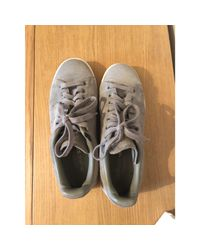 Baskets daim Stan Smith gris Adidas en coloris Gray