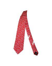 Cravate soie rouge Ferragamo pour homme en coloris Red