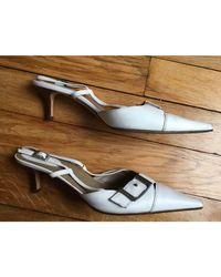 Escarpins cuir blanc Sergio Rossi en coloris White
