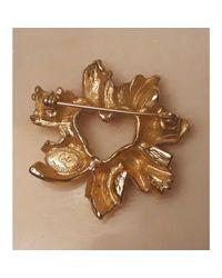 Broche métal doré Christian Lacroix en coloris Metallic