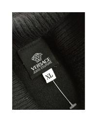 Pull laine mélangée noir Versace pour homme en coloris Black