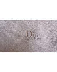 Trousse simili cuir blanc Dior en coloris White