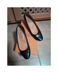 Escarpins cuir noir Tod's en coloris Black
