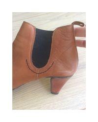 Bottines & low boots à talons cuir beige Repetto en coloris Natural