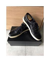 Baskets cuir noir Sandro pour homme en coloris Black