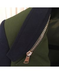 Blazer, veste tailleur avec zip kaki Givenchy en coloris Multicolor