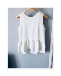 Top, tee-shirt polyester blanc Sandro en coloris White