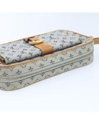 Sac en bandoulière en tissu toile bleu Louis Vuitton en coloris Blue