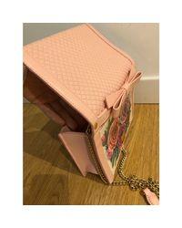 Sac à main en cuir cuir rose Moschino en coloris Pink