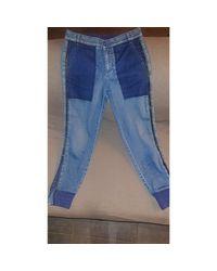 Jeans large, boyfriend coton bleu Stella McCartney en coloris Blue