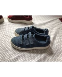 Baskets nubuck bleu Sandro en coloris Blue