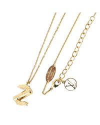 Collier plaqué or doré Louis Vuitton en coloris Metallic