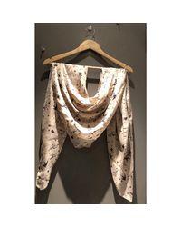 Foulard soie beige The Kooples en coloris Natural
