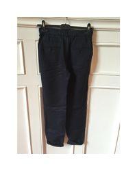 Pantalon droit lin bleu Étoile Isabel Marant en coloris Blue